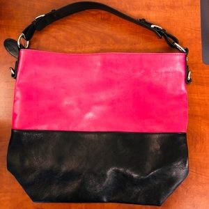 Wilson's leather Black and Pink Bag